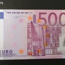 Billetes españoles: BILLETE DE 500 EUROS DE LA PRIMERA FIRMA DE DUISENBERG, NÚMERO BAJO, SIN CIRCULAR/PLANCHA. Lote 147766458