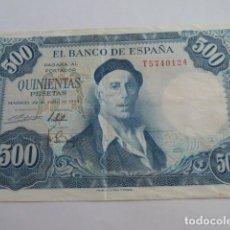 Billetes españoles: EXCELENTE BILLETE DE 500 PESETAS 1954 IGNACIO ZULOAGA, SERIE T. Lote 148040154