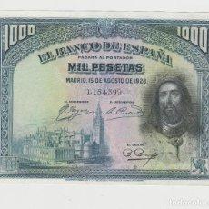 Billetes españoles: 1000 PESETAS- 15 DE AGOSTO DE 1928. Lote 148333026