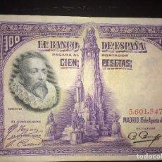 Billetes españoles: BILLETE 100 PESETAS 15 AGOSTO 1928 SIN SERIE. Lote 148483770