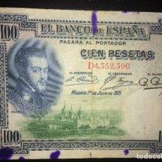 Billetes españoles: BILLETE 100 PESETAS 1 JULIO 1925. Lote 148484998