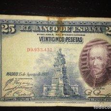 Billetes españoles: BILLETE 25 PESETAS 1928. Lote 148518934