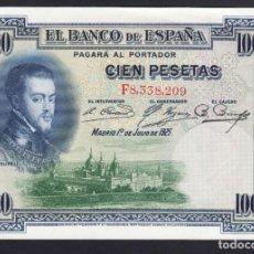 Billetes españoles: 100 PESETAS 1925, SIN CIRCULAR/PLANCHA. Lote 148607050