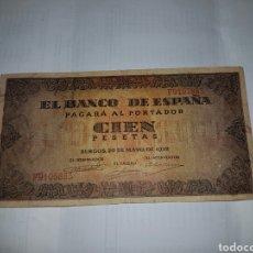 Billetes españoles: BILLETE DE 100 PESETAS DEL AÑO 1938. Lote 148639868