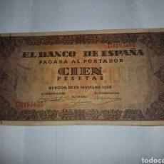 Billetes españoles: BILLETE DE 100 PESETAS DEL AÑO 1938. Lote 148639982