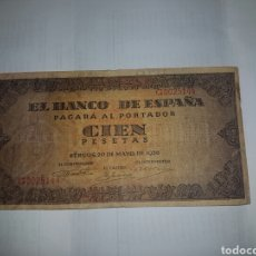 Billetes españoles: BILLETE DE 100 PESETAS DEL AÑO 1938. Lote 148642436