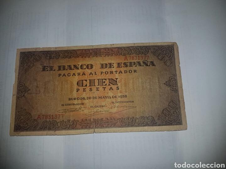 BILLETE DE 100 PESETAS DEL AÑO 1938 (Numismática - Notafilia - Billetes Españoles)