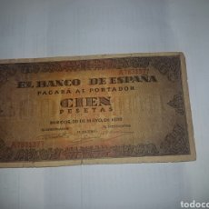 Billetes españoles: BILLETE DE 100 PESETAS DEL AÑO 1938. Lote 148642842