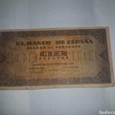 Billetes españoles: BILLETE DE 100 PESETAS DEL AÑO 1938. Lote 148644790