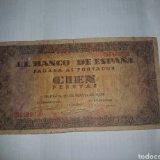 Billetes españoles: BILLETE DE 100 PESETAS DEL AÑO 1938. Lote 148644925