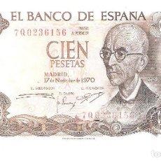 Billetes españoles: BILLETE DE ESPAÑA DE 100 PESETAS DE 1970 CIRCULADO MANUEL DE FALLA. Lote 151511272
