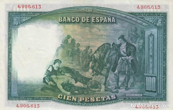 Billetes españoles: 1931. 100 PESETA BILLETE DEL BANCO DE ESPAÑA. SIN SERIE - Foto 2 - 149223910