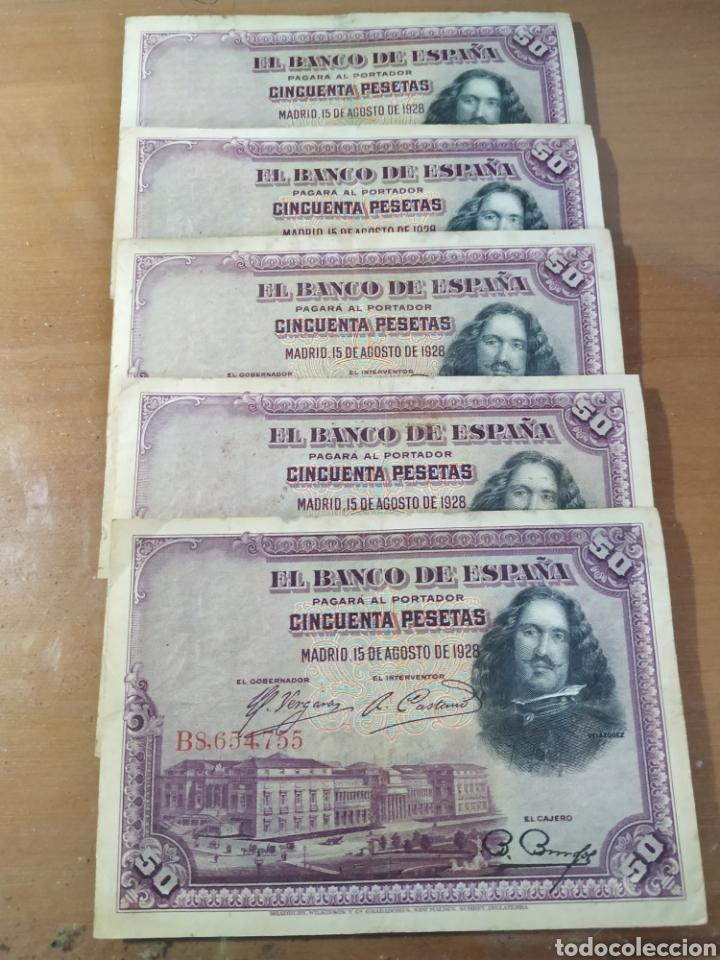 LOTE BILLETES 50 PESETAS (Numismática - Notafilia - Billetes Españoles)