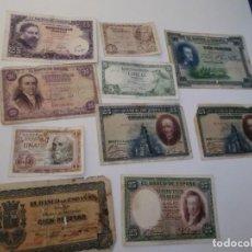 Billetes españoles: LOTE DE BILLETES ESPAÑOLES VARIADOS ( AÑOS 30-40 ETC). Lote 149687222