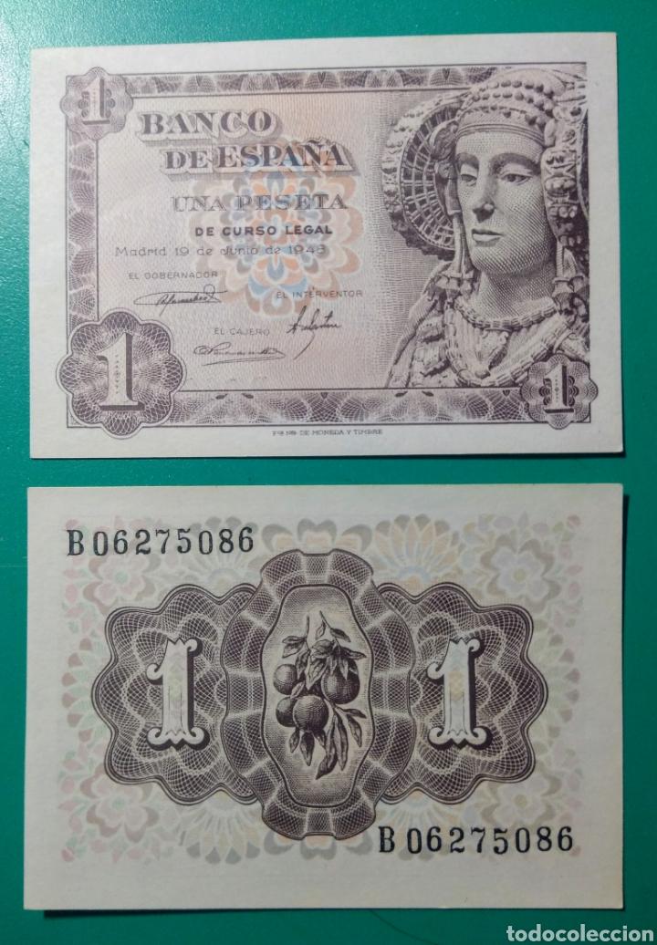 1 PESETA 1948. PAREJA CORRELATIVA. SC. PLANCHA. (Numismática - Notafilia - Billetes Españoles)