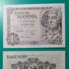 Billetes españoles: 1 PESETA 1948. PAREJA CORRELATIVA. SC. PLANCHA.. Lote 149902286