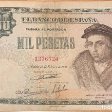 Banconote spagnole: 1000 PESETAS 1946 LUIS VIVES. Lote 150109136