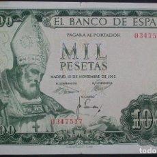 Billetes españoles: 1000 PESETAS. 19 NOVIEMBRE 1965. SAN ISIDORO. SIN SERIE. MBC. Lote 150241366