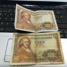 Billetes españoles: 2 BILLETES 100 PESETAS MAYO 1948. Lote 150424913