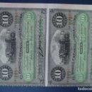 Billetes españoles: 10 PESOS BANCO ESPAÑOL DE LA ISLA DE CUBA EN BLOQUE DE DOS. SIN CIRCULAR.. Lote 161271901