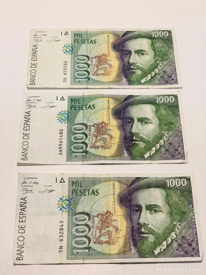 TRES BILLETES DE MIL PESETAS DE1992 (Numismática - Notafilia - Billetes Españoles)