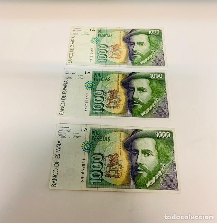 Billetes españoles: TRES BILLETES DE MIL PESETAS DE1992 - Foto 2 - 150505518