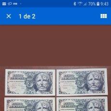 Billetes españoles: 6 BILLETES 5 PESETAS 1947 SC CORRELATIVOS. Lote 150608250