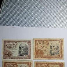 Billetes españoles: LOTE 6 BILLETES DE 1 PESETA DE MADRID JULIO DE 1953 SERIES(F-P-S-T-U Y 1G). Lote 150677078
