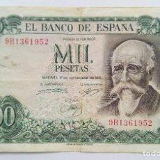 Billetes españoles: 1000 PESETAS - 17-SEPTIEMBRE-1971 - SERIE 9B - ECHEGARAY - RARO. Lote 150684798