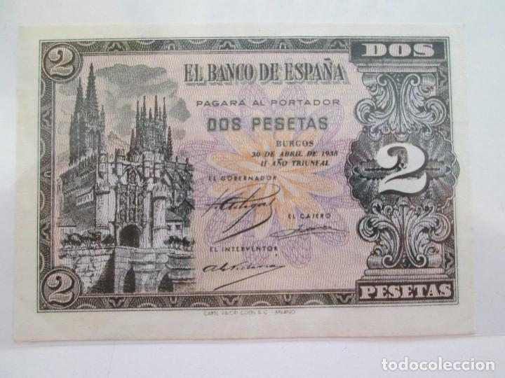 BILLETE * 2 PESETAS 30 DE ABRIL DE 1938 BURGOS * S/C (Numismática - Notafilia - Billetes Españoles)