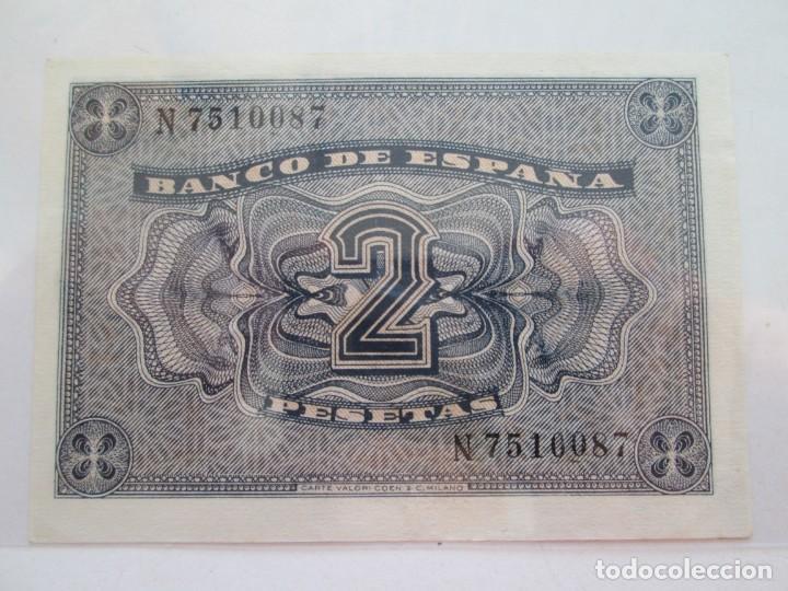 Billetes españoles: BILLETE * 2 PESETAS 30 DE ABRIL DE 1938 BURGOS * S/C - Foto 2 - 150846590
