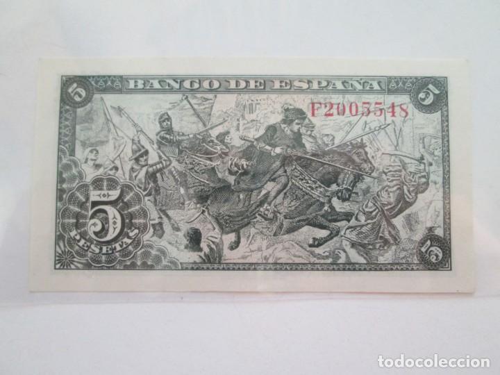 Billetes españoles: BILLETE * 5 PESETAS 15 DE JUNIO DE 1945 * S/C - Foto 2 - 150846694