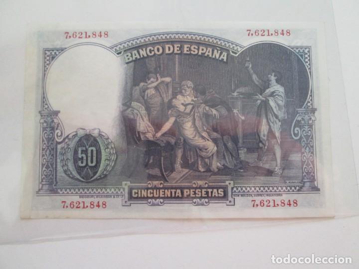 Billetes españoles: BILLETE * 50 PESETAS 25 DE ABRIL DE 1931 * - Foto 2 - 150847066