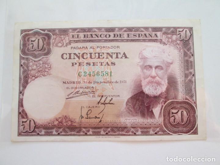 BILLETE * 50 PESETAS 31 DE DICIEMBRE DE 1951 (Numismática - Notafilia - Billetes Españoles)
