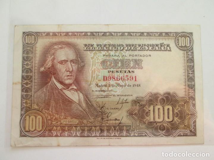 BILLETE * 100 PESETAS 2 DE MAYO DE 1948 (Numismática - Notafilia - Billetes Españoles)