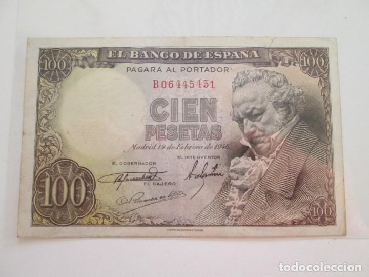 BILLETE * 100 PESETAS 19 DE FEBRERO DE 1946 (Numismática - Notafilia - Billetes Españoles)