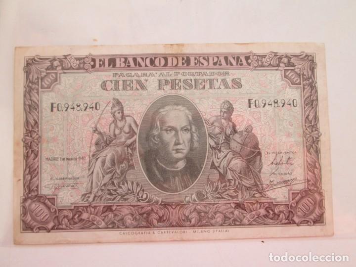BILLETE * 100 PESETAS 9 DE ENERO DE 1940 (Numismática - Notafilia - Billetes Españoles)