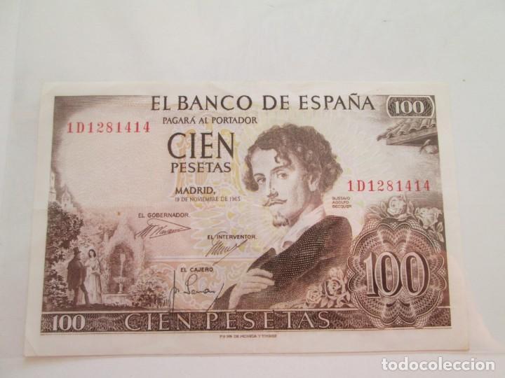 BILLETE * 100 PESETAS 19 DE NOVIEMBRE DE 1965 (Numismática - Notafilia - Billetes Españoles)