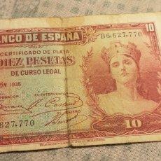 Billetes españoles: DIEZ PESETAS DE 1935.. Lote 151293757