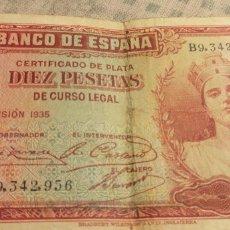 Billetes españoles: BILLETE DE 10 PESETAS DE 1935. Lote 151294817