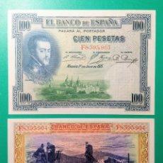 Billetes españoles: 100 PESETAS 1925. SERIE F. PAREJA, SC.. Lote 151439829