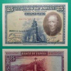 Billetes españoles: 25 PESETAS 1928. SERIE E. PAREJA CORRELATIVA. SC. Lote 151450050