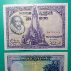 Billetes españoles: 100 PESETAS 1928. PAREJA CORRELATIVA. SERIE A. SC. Lote 151454124