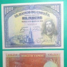 Billetes españoles: 1000 PESETAS 1928. PAREJA CORRELATIVA. SC.. Lote 151456250