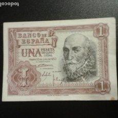 Billetes españoles: BILLETE ESPAÑA. 1 (UNA) PESETA. 1953.. Lote 151462782