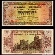 Billetes españoles: ESPAÑA 50 PESETAS 1938 MBC+. Lote 151520742
