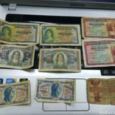 Billetes españoles: LOTE 9 BILLETES DE LA REPUBLICA ESPAÑOLA. Lote 151526720