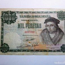 Billetes españoles: BILLETE ESTADO ESPAÑOL 1000 PESETAS 1946 1,000 PTAS SIN SERIE *PAGO SOLO PAYPAL**. Lote 151533006