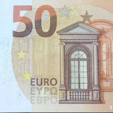 Billetes españoles: 50 EUROS DE LA TERCERA FIRMA DRAGHI AÑO 2017, LETRA VA DE ESPAÑA,SIN CIRCULAR/PLANCHA. Lote 151535878