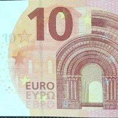 Billetes españoles: 10 EUROS DE LA TERCERA FIRMA DE DRAGHI PLANCHA E004F3, LETRA EA5243745016,SC/PLANCHA. Lote 151538286